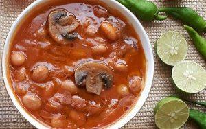 طرز تهیه خوراک لوبیا چیتی رژیمی